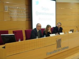 El DG de Atención Ciudadana y Difusión, la directora del CEJFE y el ponente