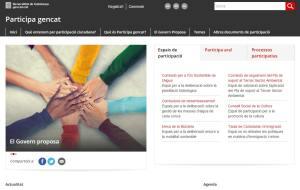 Captura del portal Participa gencat