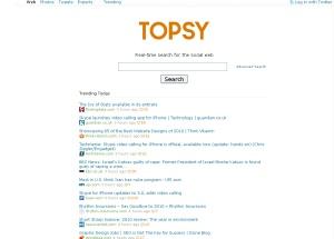 Captura de pantalla de Topsy.com